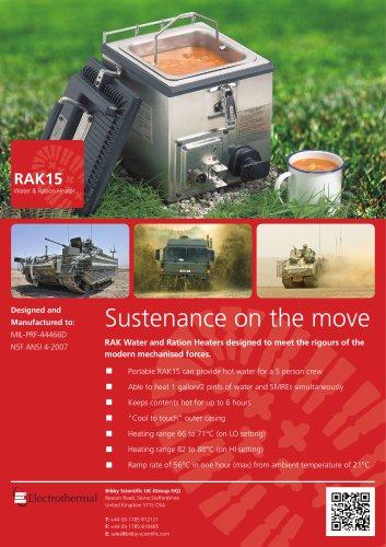 RAK Water & Ration Heater Leaflet