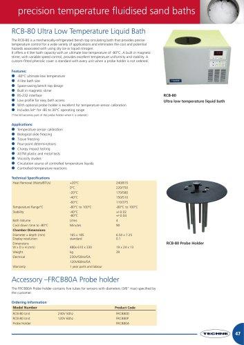 RCB-80 Ultra Low Temperature Liquid Bath