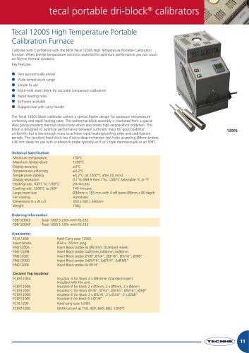 Tecal 1200S High Temperature Portable Calibration Furnace