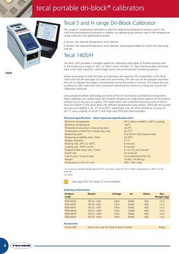 Tecal S and H range Dri-Block Calibrator