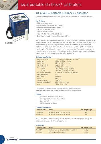 UCal 400+ Portable Dri-Block Calibrator