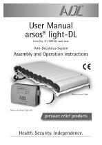 User Manual arsos® light-DL
