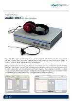Audiometry Audio 4002 (PC-based module)