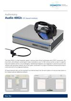 Audiometry Audio 4002c (PC-based module)