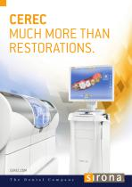CEREC MUCH MORE THAN RESTORATIONS.