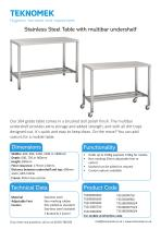Table with multi bar with shelf - 1
