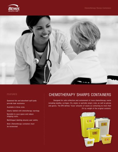 CHEMOTHERAPY SHARPS CONTAINERS