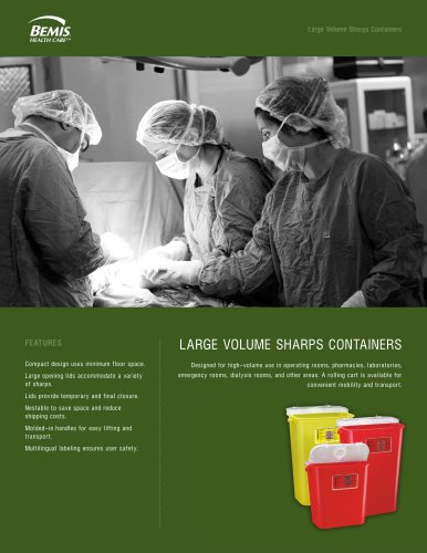 Large Volume S harps Containers LARGE VOLUME SHARPS CONTAINERS
