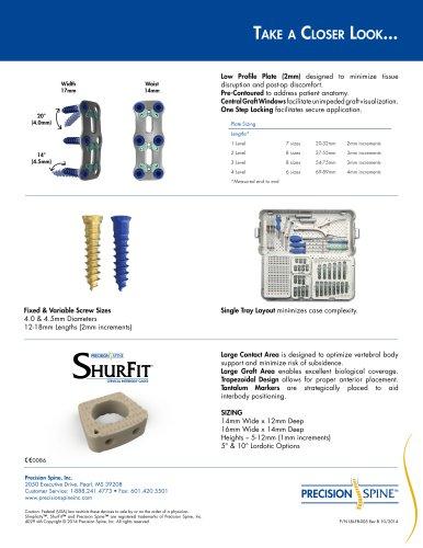 ShurFit® Anterior Cervical Interbody Cage