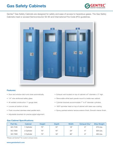 Gas Safety Cabinets