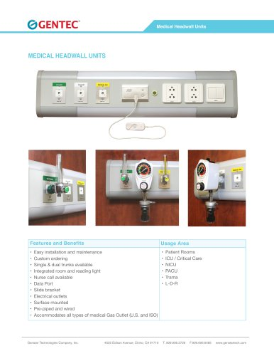 MEDICAL HEADWALL UNITS