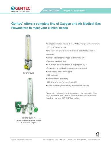 Oxygen & Air Flowmeters