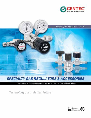 Specialty Gas Regulators & Accessories