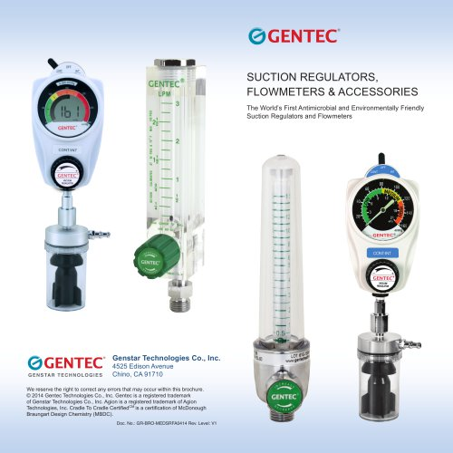 SUCTION REGULATORS,  FLOWMETERS & ACCESSORIES