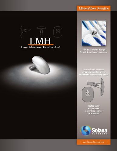 LMH Lesser Metatarsal Head Implant