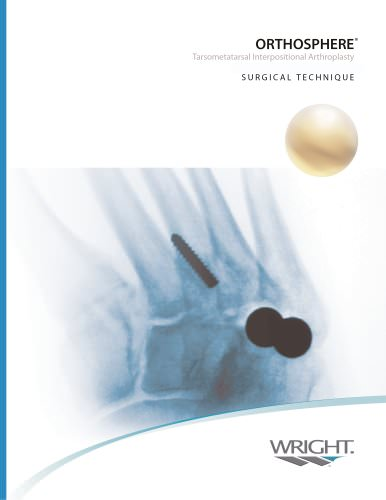 ORTHOSPHERE® Foot Surgical Technique ? SO036?103