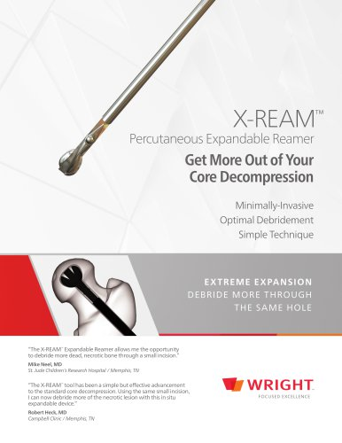 PRO-DENSE™ and X-REAM™ Percutaneous Expandable Reamer Core Decompression Sales Sheet