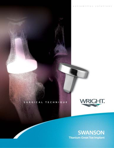 SWANSON Titanium Great Toe Surgical Technique ? SOSTL002