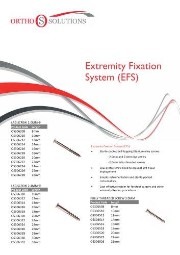 Extremity Fixation System (EFS)