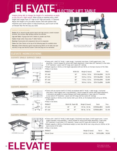 ELEVATE Electro lift Table