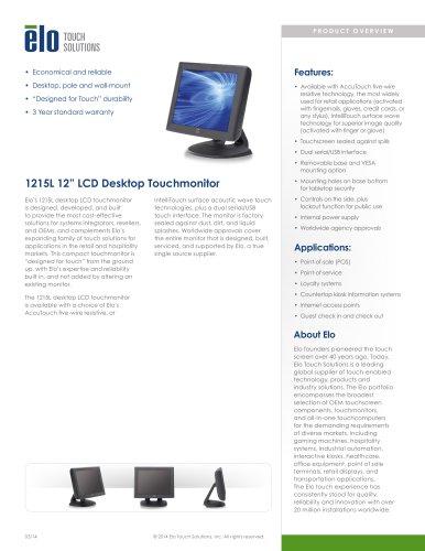 1215L 12? LCD Desktop Touchmonitor