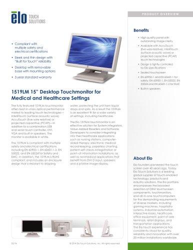 1519LM 15? Desktop Touchmonitor