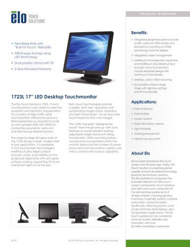 1723L Multifunction 17-inch Desktop Touchmonitor