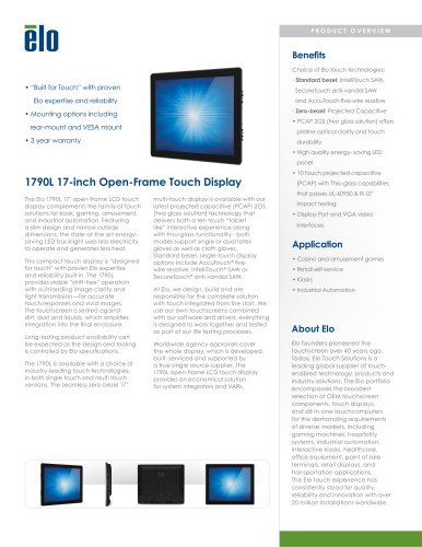 1790L 17-inch Open-Frame Touchmonitor