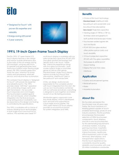 1991L 19-inch Open-Frame Touchmonitor