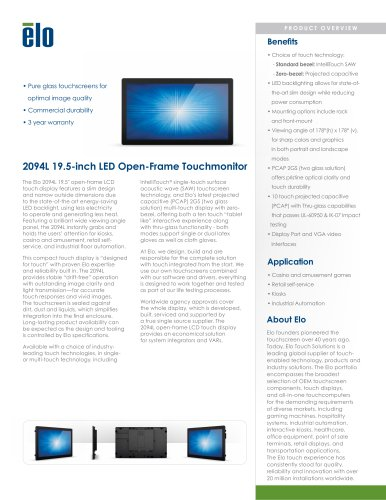 2094L 20-inch Open-Frame Touchmonitor
