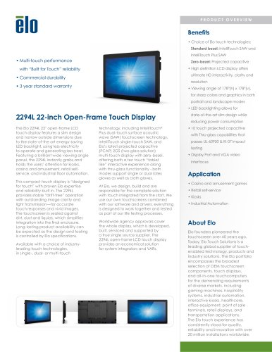 2294L 22-inch Open-Frame Touchmonitor