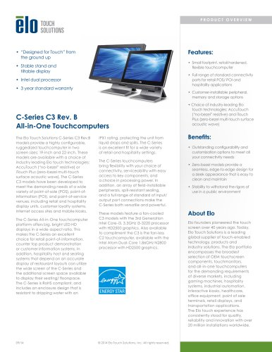 C-Series C3 Rev. B All-in-One Touchcomputers