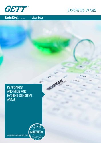 KEYBOARDS AND MICE FOR HYGIENE-SENSITIVE AREAS