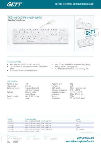 TKG-105-GCQ-IP68-KGEH-WHITE-USB