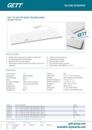 TKG-110-GCQ-MED-AM-IP68-BACKL-WHITE-USB
