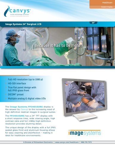 Image systems 24''surgical LCD
