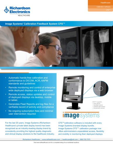 Image Systems' Calibration Feedback System CFS