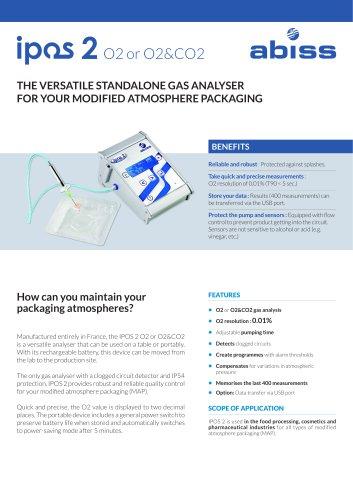 Ipos 2 Industrial Handheld Headspace gaz analyzer Abiss