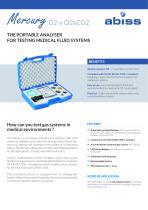 Mercury Handheld gas and pressure analyzer Medical gas networks