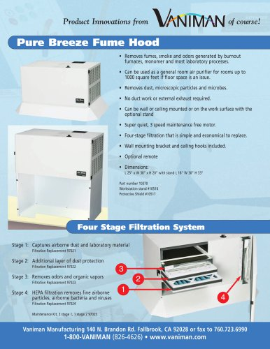 Pure Breeze Fume Hood ? 10370