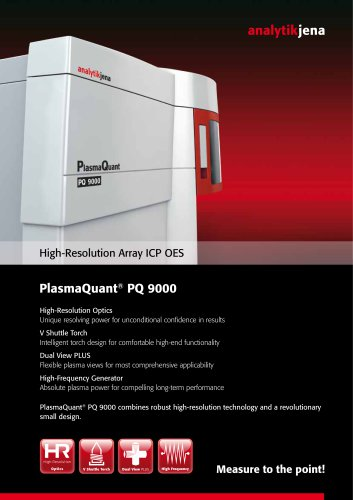 Flyer PlasmaQuant PQ 9000
