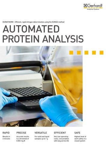 DUMATHERM - Automated protein analysis