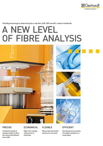 System for the determination of ADF, NDF and crude fibre FIBRETHERM