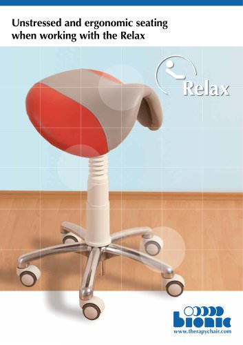 Unstressed and ergonomic seating  when working with the Relax