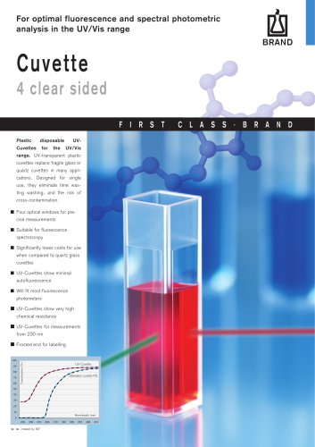 Cuvette 4 clear sided - BRAND - PDF Catalogs | Technical