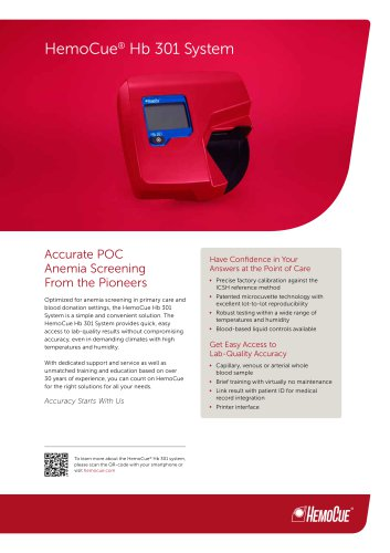 HemoCue ® Hb 301 System