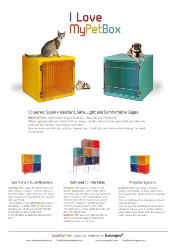 I Love My Pet Box: Veterinary Plastic Cages