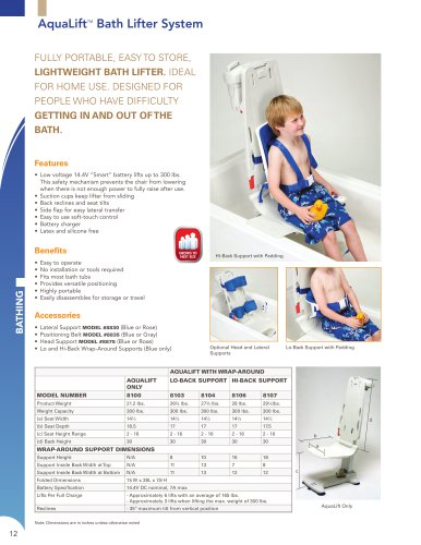 AquaLift TM Bath Lifter System