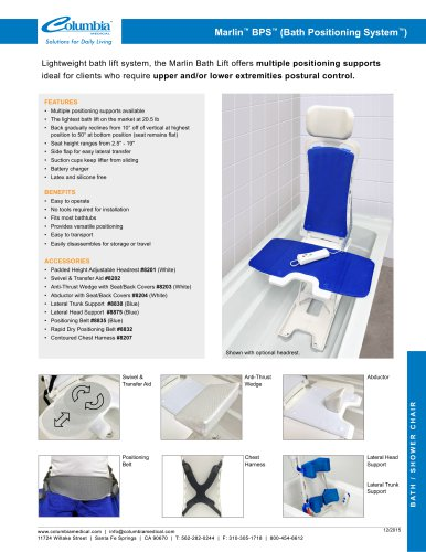 Marlin™ BPS™ (Bath Positioning System™)