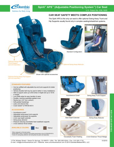 Spirit APS 2400 Car Seat